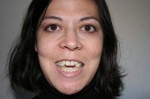 I look like a vampire. Scary!